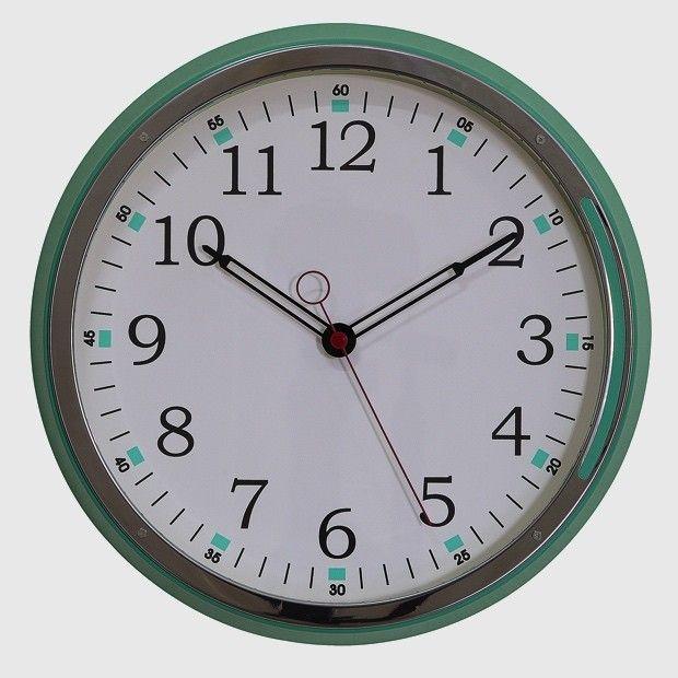 Aqua Metal Wall Clock