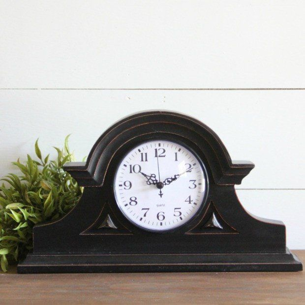English Tambour Grand Mantel Clock