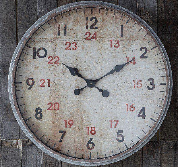 Round 24 Hour Wall Clock | Oversized Wall Clock