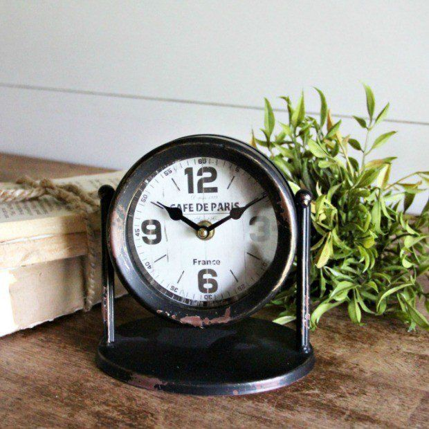 Rustic Industrial Desk Clock