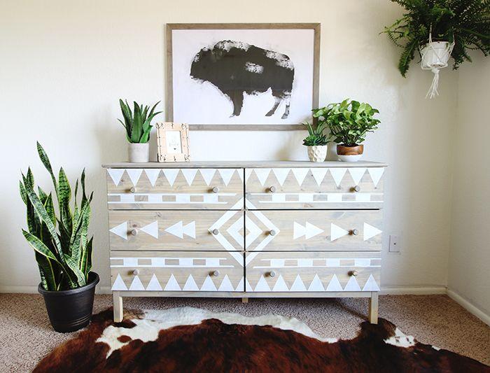 Decor Diy Inspiration Diy Aztec Inspired Dresser Makeover And
