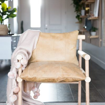 DIY Urban Outfitters Inspired Wooden Dowel + Leather Chair