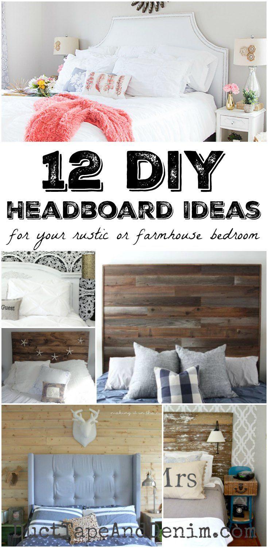 rustic bedroom daily interior design inspiration | Decor Hacks : 12 DIY headboard ideas for your rustic or ...