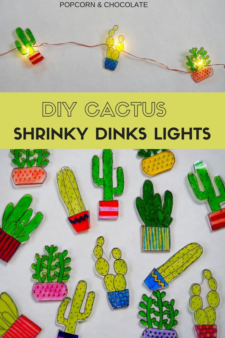 Cactus Shrinky Dinks Lights