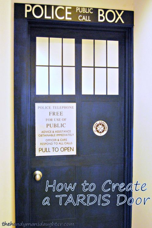 How to Make a TARDIS door