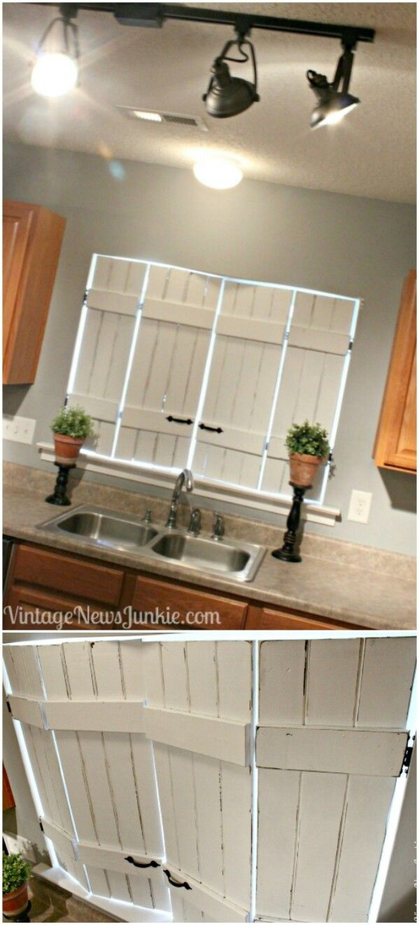 Decor Hacks : Upcycled Indoor Kitchen Shutters - Decor Object   Your ...