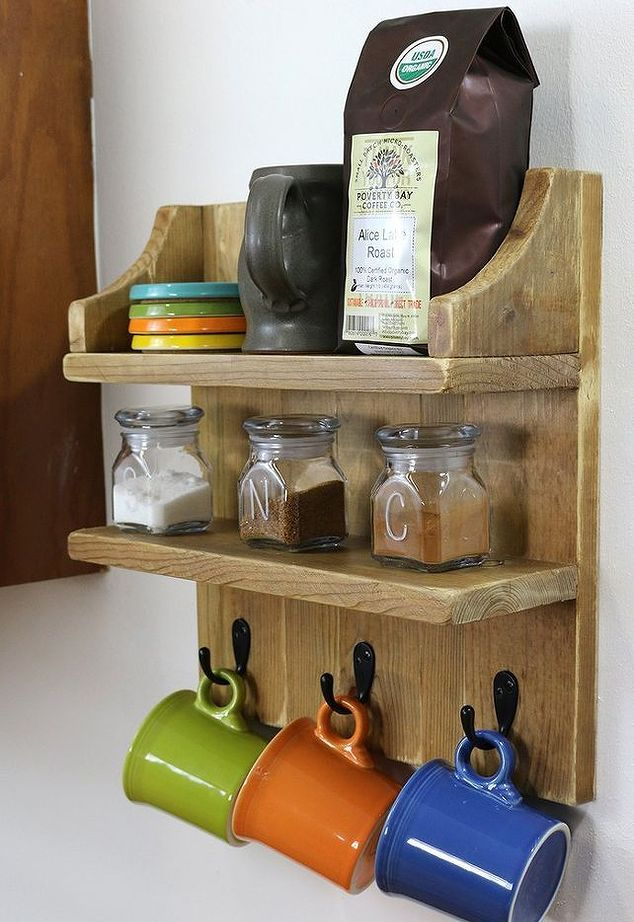 Build a Rustic Coffee Shelf