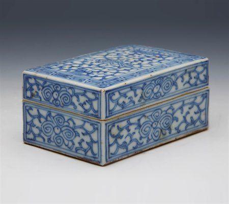 Decorative Boxes Fine Antique Chinese Qing Porcelain Lidded Box Impressive Chinese Decorative Boxes