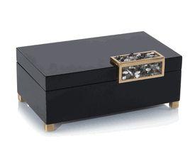 Limited Production Design: Beautiful Silver Stone Embellished Black Dressing Tab...