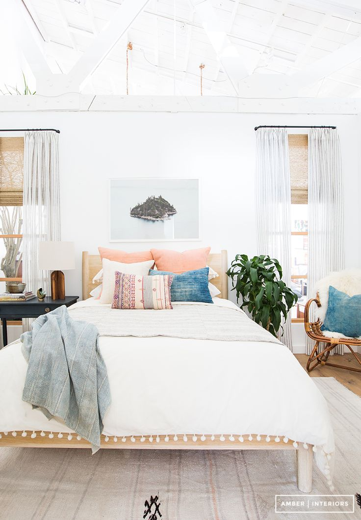 Furniture Bedrooms Bright White Bedroom With Exposed