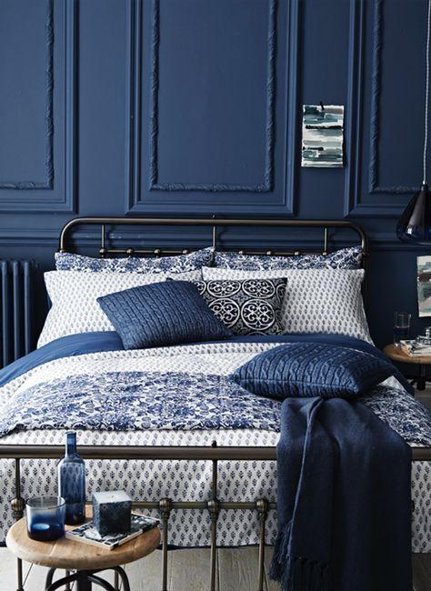 Decorating With Indigo Blue: Sainsbury's A/W14