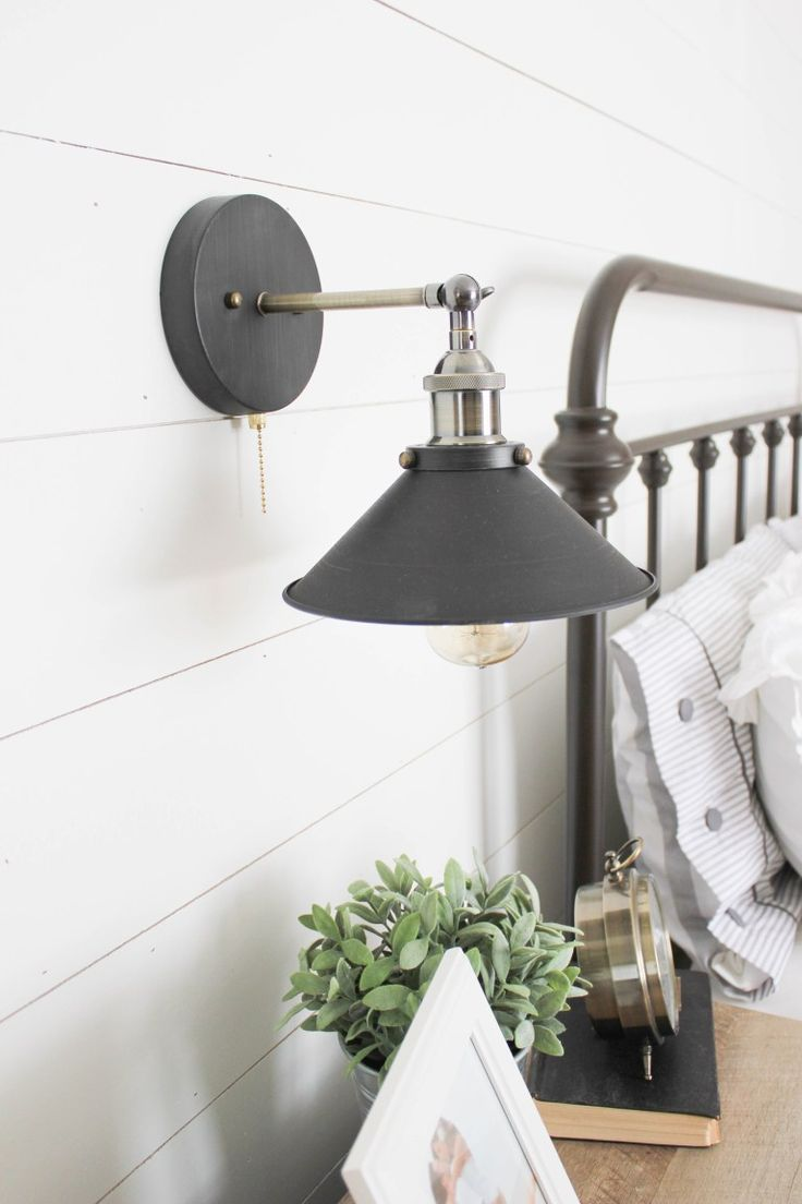 Furniture - Bedrooms : Farmhouse master bedroom industrial sconce ...