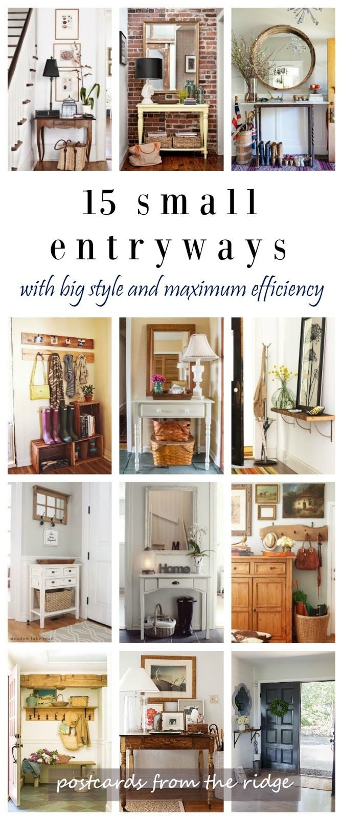 Furniture - Entryway : Postcards from the Ridge: 15 Fresh Ideas for ...