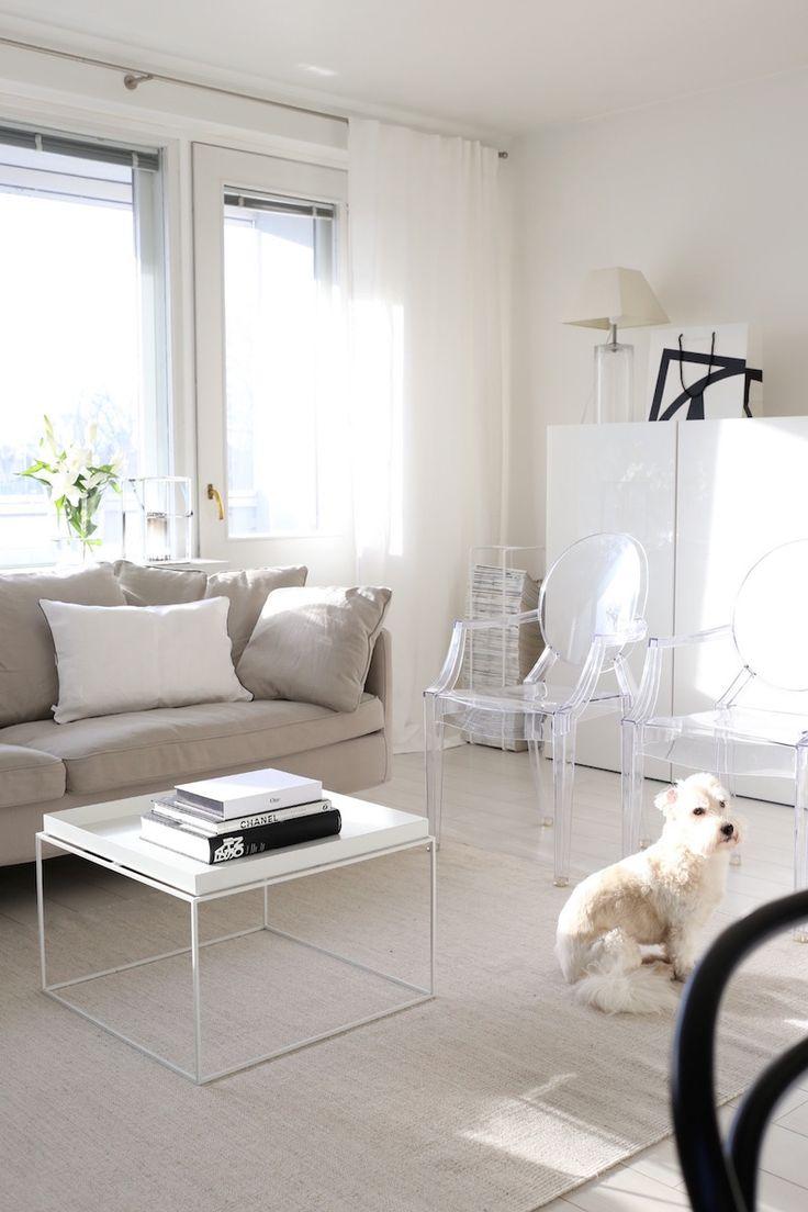 Furniture - Living Room : Homevialaura   living room   white linen ...