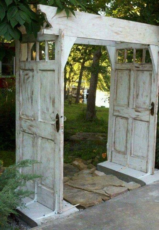 Gardening And Outdoor Decor Make An Arbor Walkway Using Salvaged