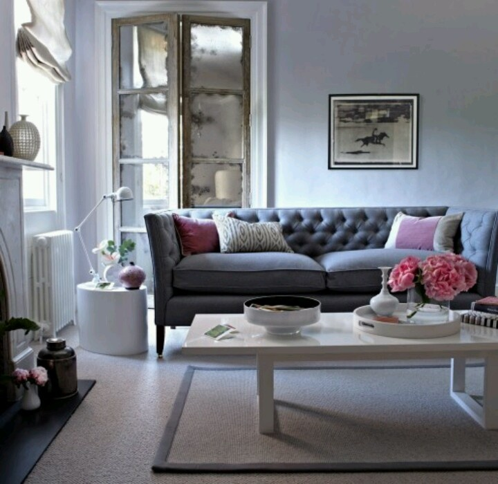 Mirrors Home Decor : Grey Couch Living Room Area
