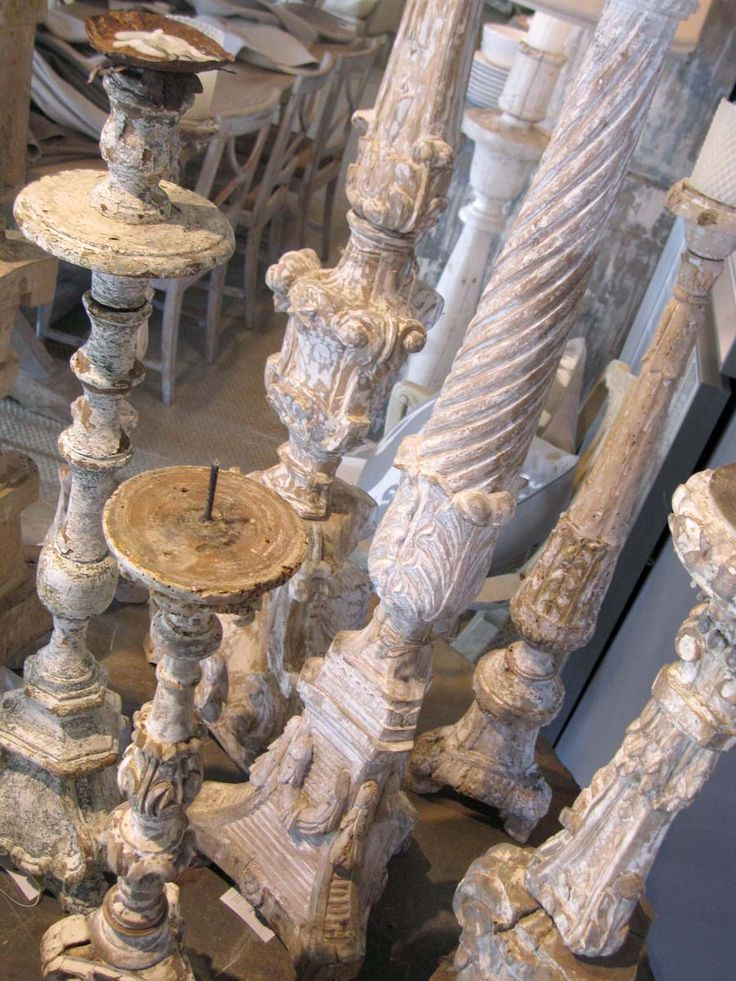 Collection, Antique candleholders : patina