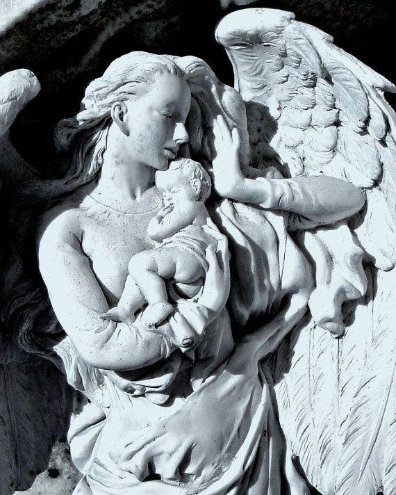 Relics Sculpture Motifs For The Home Guardian Angel Decor