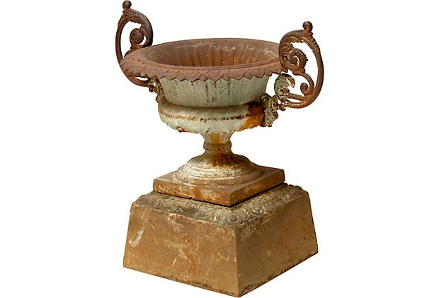 Love this...French Cast Iron Urn, C.1870