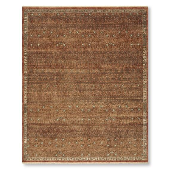 Desert Stars Hand Knotted Rug, 6' X 9', Brown