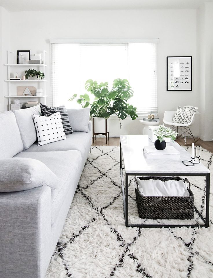 Rugs – Home Decor : west elm - Black and White Modern Living ...