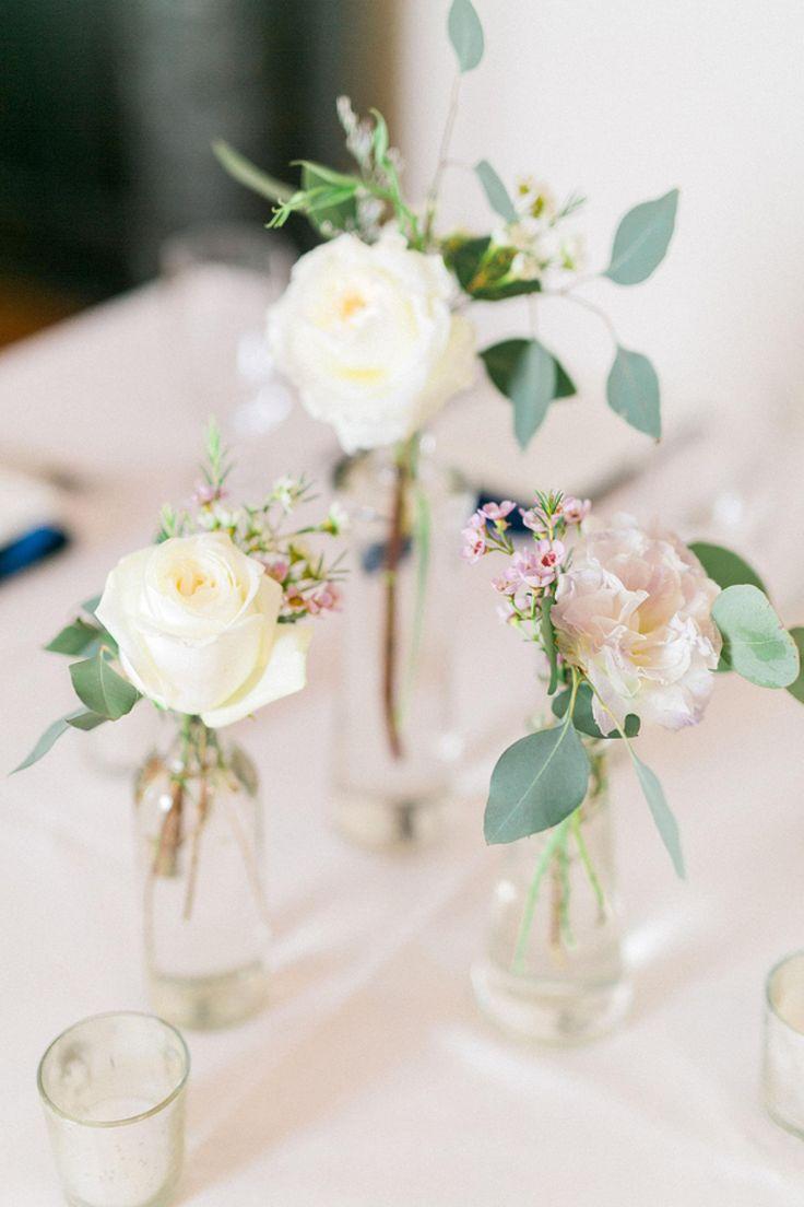 Wedding Decorative Bottles Simple Floral Centerpieces Jars With