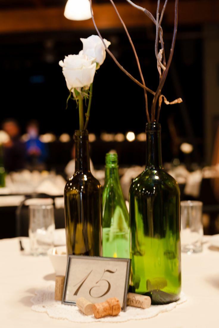 wine bottle centerpieces - Bing images