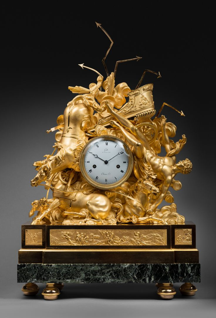 Claude Galle An Empire figural clock representing the fall of Phaeton,by Claude ...