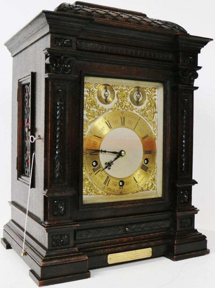 Clocks Decor Beautiful Antique Carved Mahogany