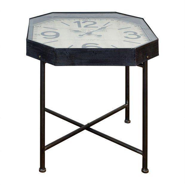 Dark Metal Clock Table