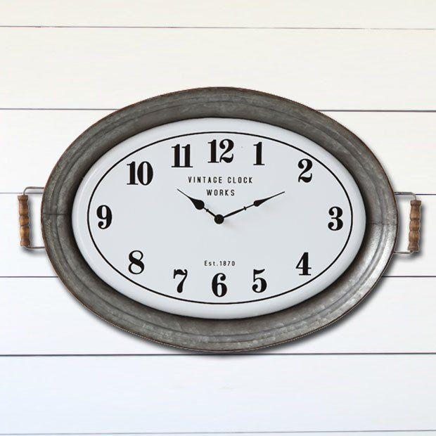 Metal Serving Tray Wall Clock