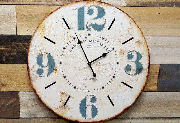 Clocks - Decor Objects: White Wall Clock