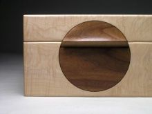 Moon box in ripple sycamore