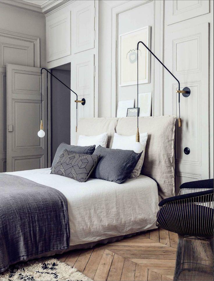 Pierre Emmanuel Martin and Stéphane Garotin apartment, Maison Hand, bedroom, Be...