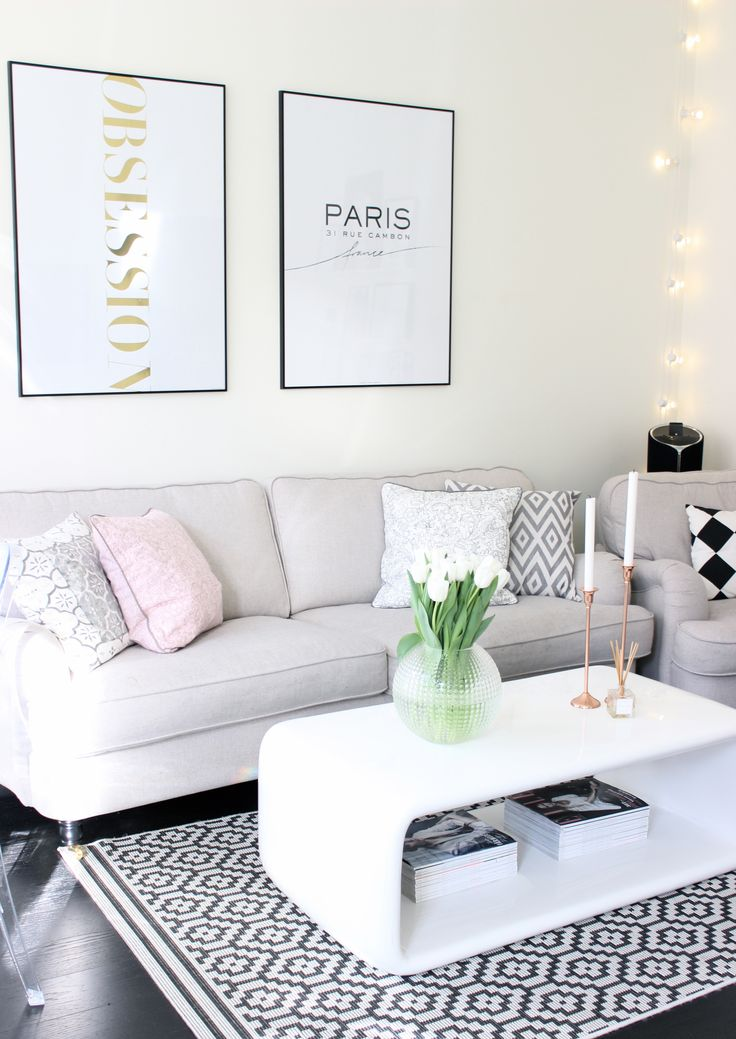 Crisp living room with a high lux look