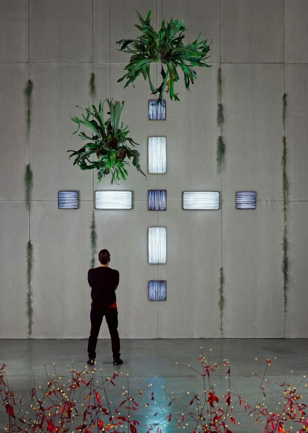 Aqua Creations designed Simon Says, a collection of wall lamps made from natural...