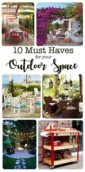 10 must have items that every outdoor space needs. Transform your porch or patio...