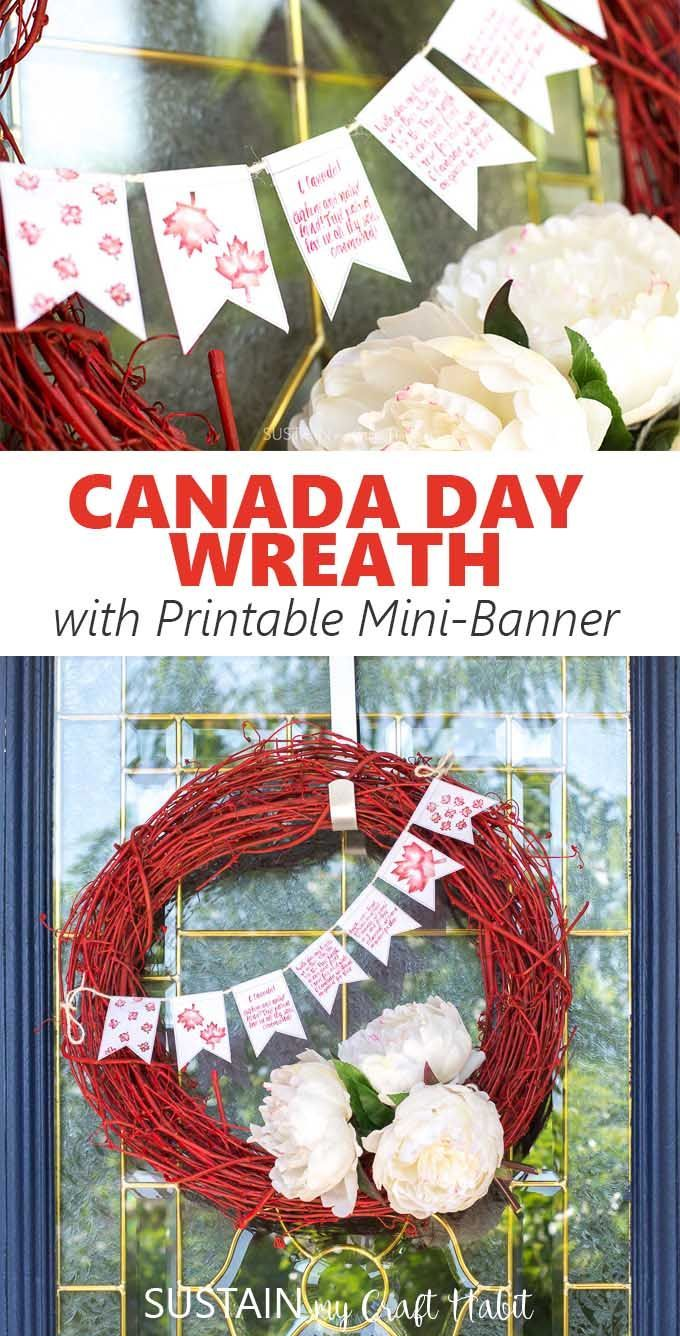 Canada Day Wreath and Printable