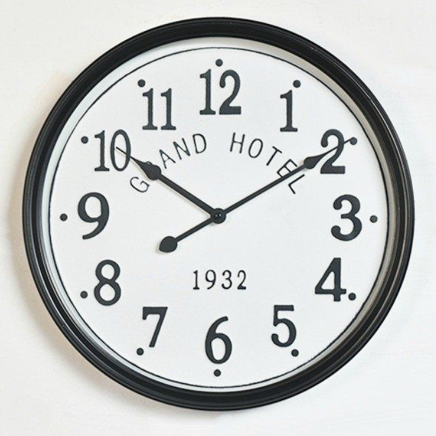 Grand Hotel Pressed Tin Clock
