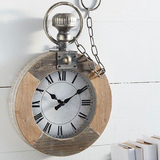 Pocket Watch Wood Wall Clock
