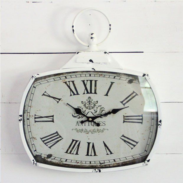 Vintage Inspired Antiqued Wall Clock