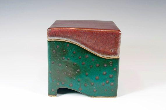 Decorative Boxes Ceramic Box Slab Built Stoneware