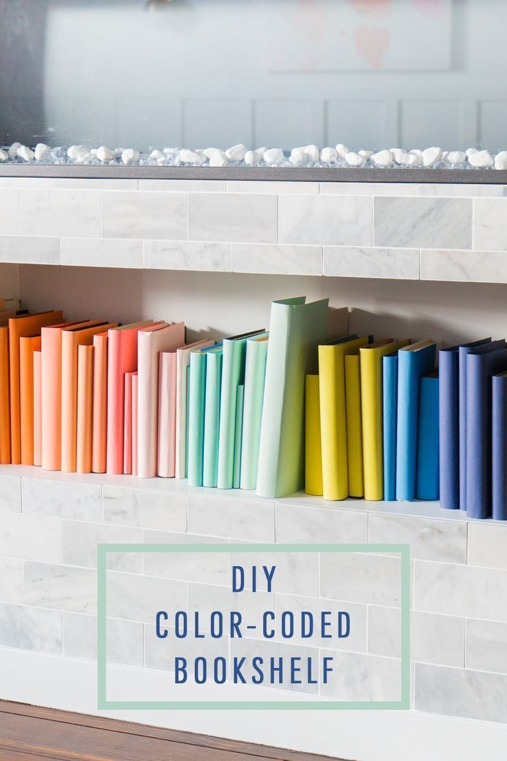 DIY Color-Coded Bookshelf