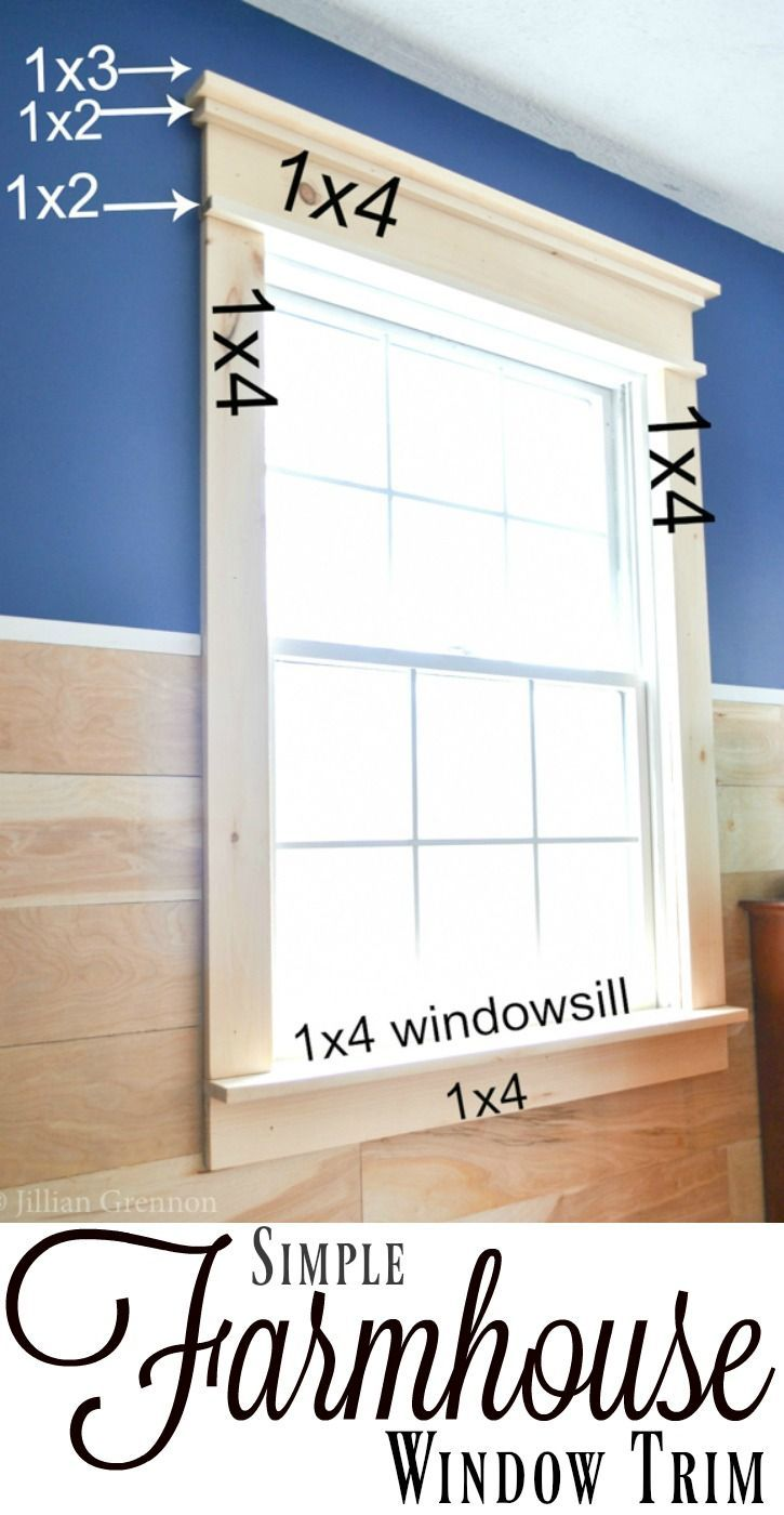 I was surprised that this DIY farmhouse window trim actually seems easy to do! T...