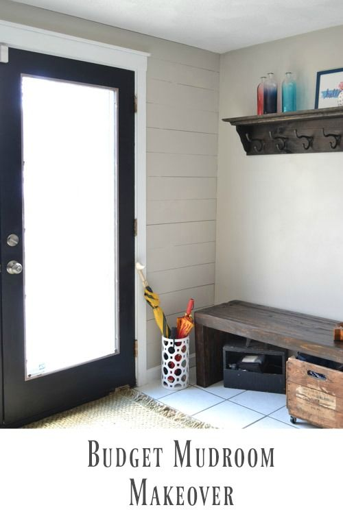 Mudroom Makeover on a budget