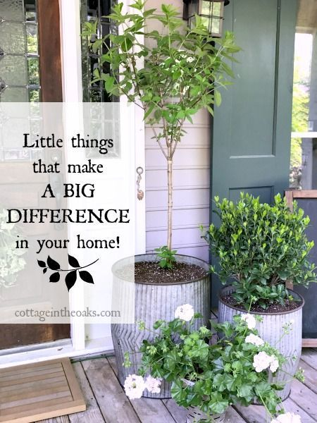 Outdoor Decorating/Gardening : Little things that make a big ...