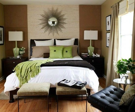 Black Brown White Green Bedroom Color