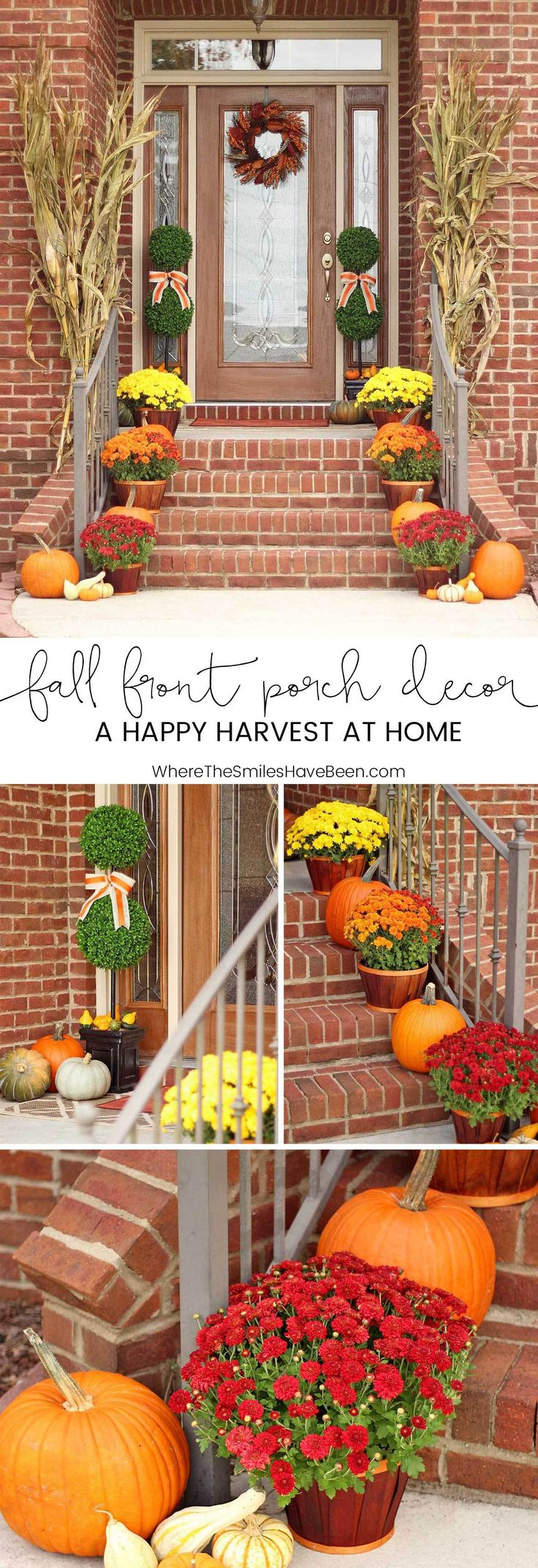 Fall Front Porch Decor: Our Happy Harvest at Home! | Where The Smiles Have Been ...