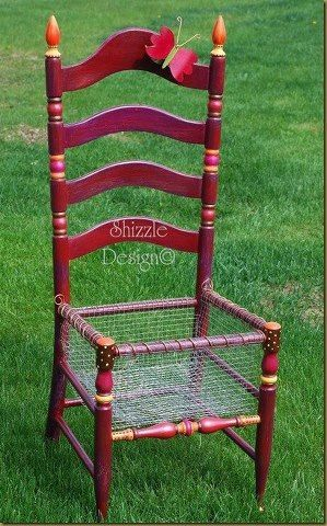 How to turn an old chair into a planter box... shizzle-design.co...