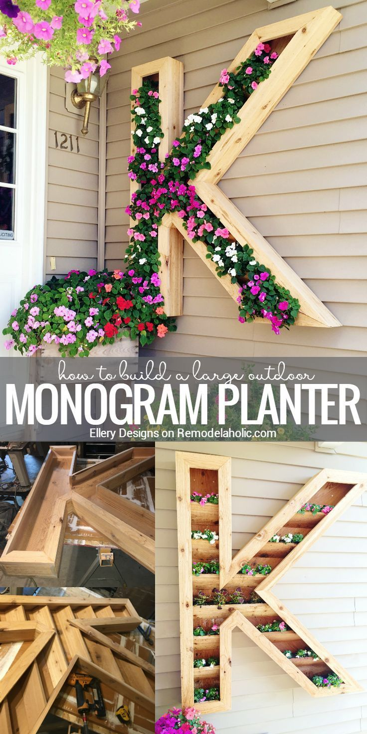 This extra large monogram planter will add some beautiful color to your front wa...